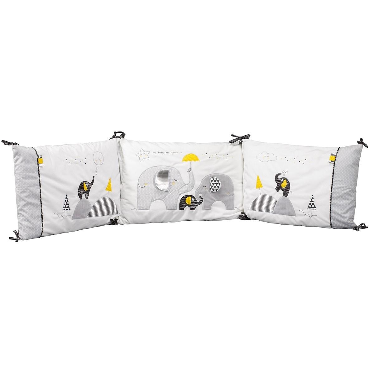Tour de lit bébé déhoussable en coton blanc