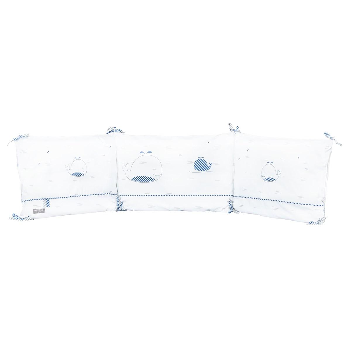 Tour de lit bébé en coton blanc