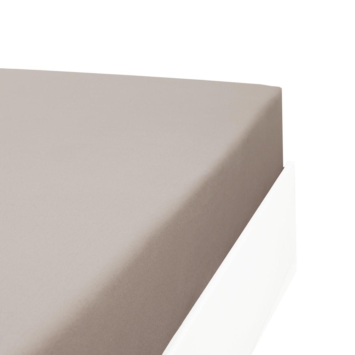 Drap housse flanelle en Molleton Gris 160x200 cm