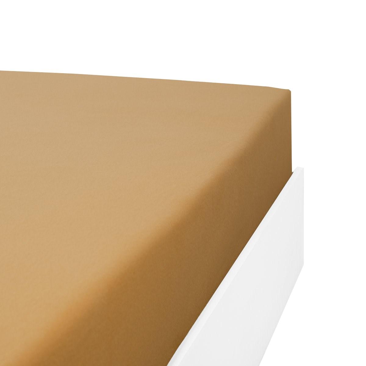 Drap housse flanelle en Molleton Cappuccino 160x200 cm