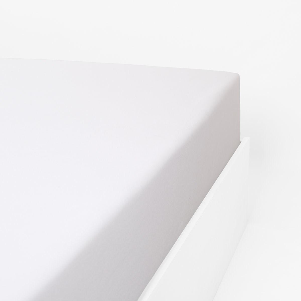 Drap housse flanelle en Molleton Blanc 160x200 cm