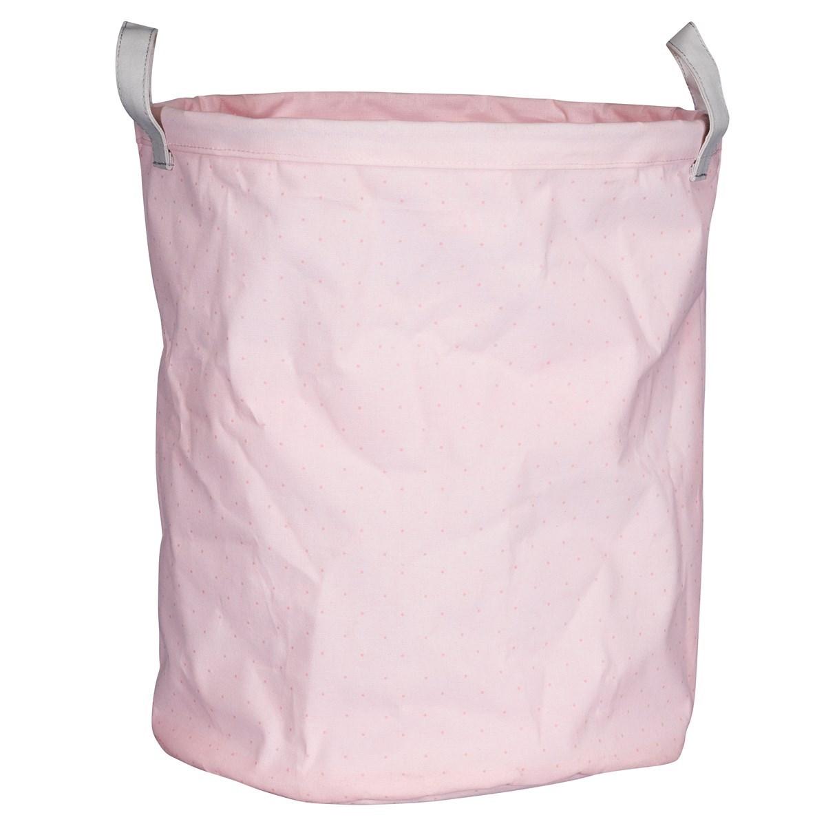 Panière de rangement en tissu en coton rose