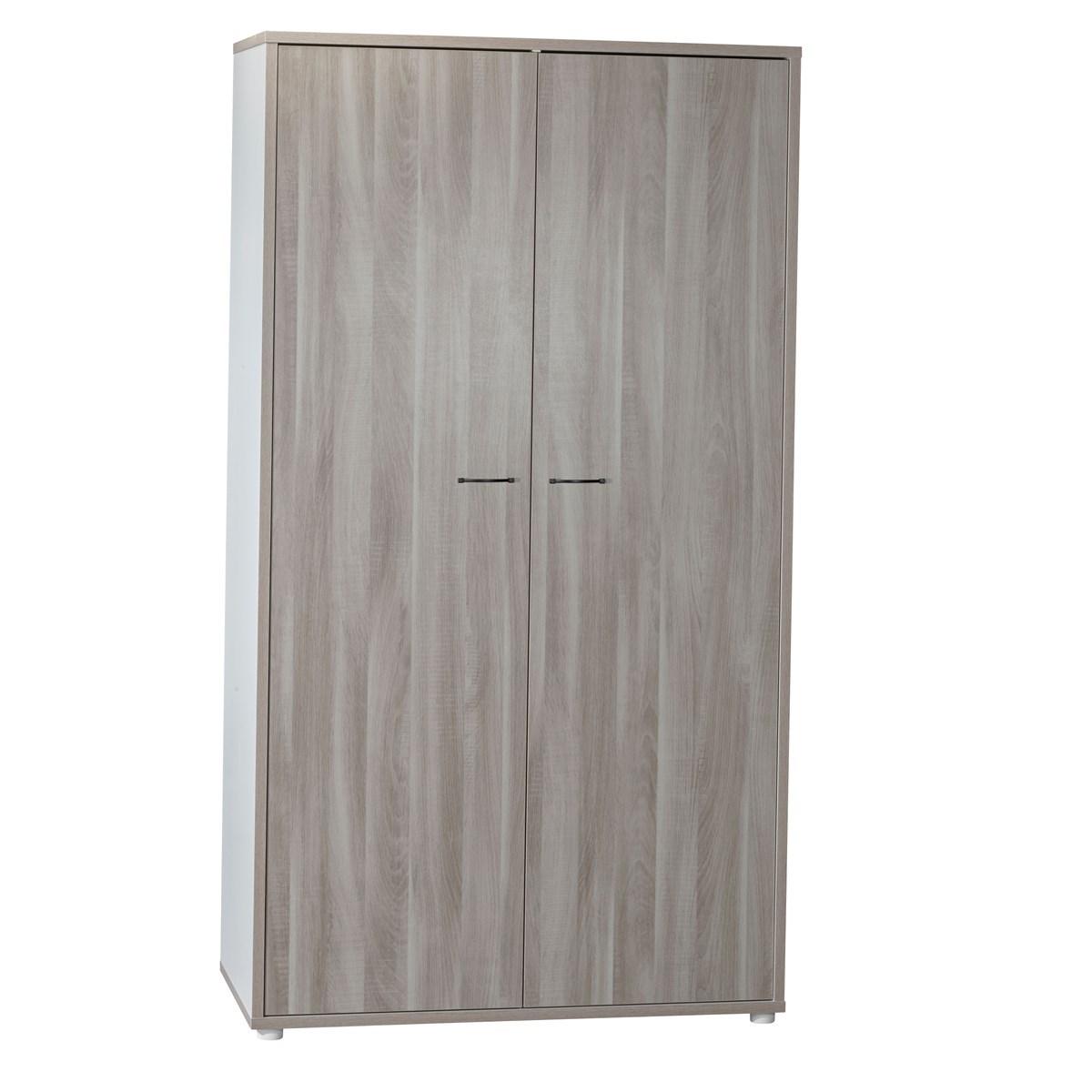 Armoire 2 portes en mdf gris foncé