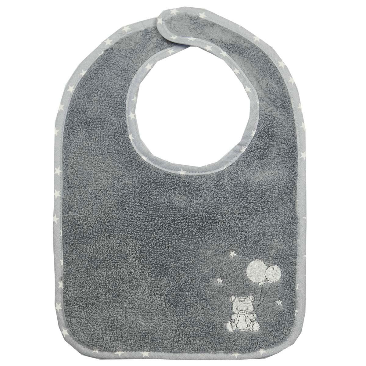 Lot de 2 bavoirs en coton peigné  Galet 24x36 cm