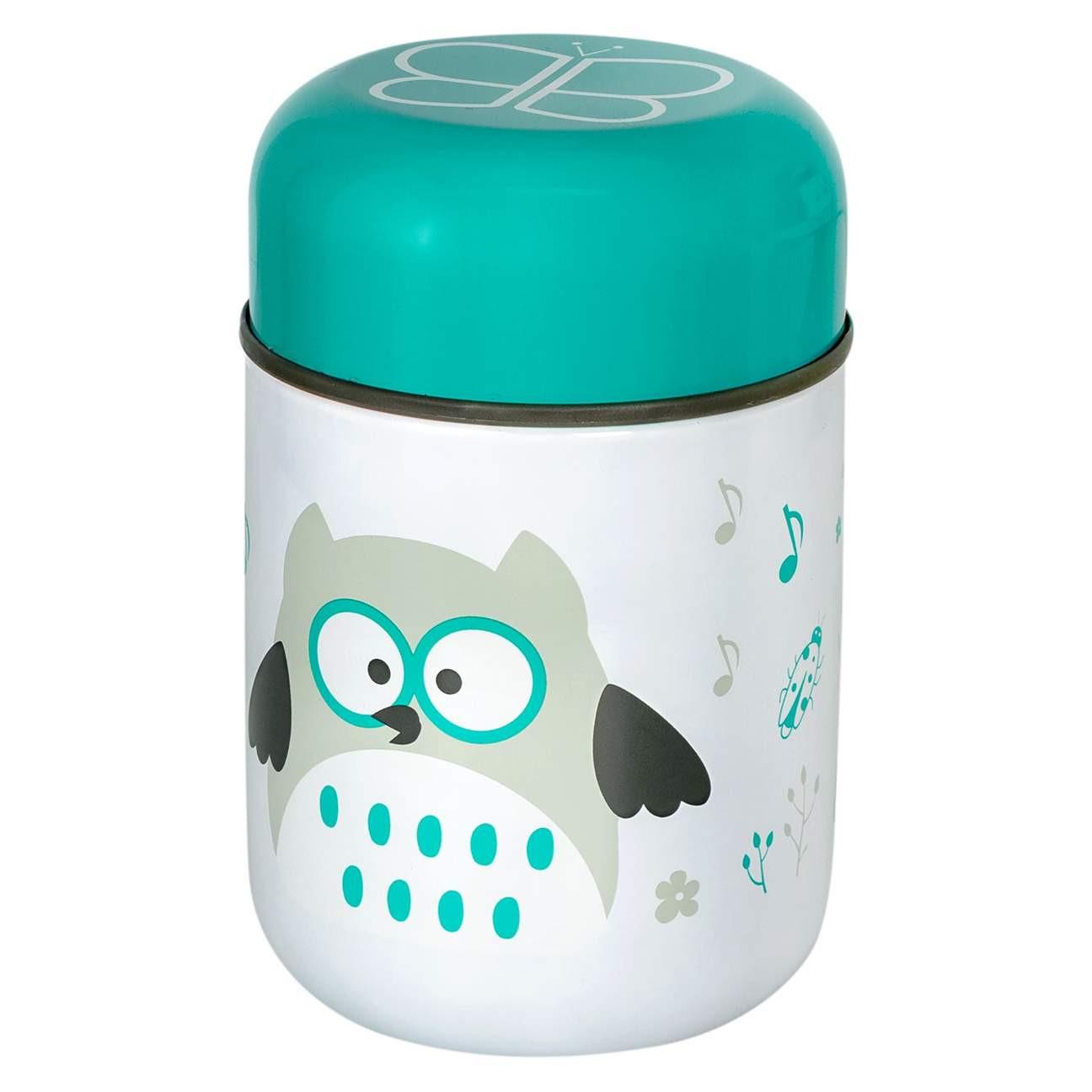 Boîte à repas isotherme avec cuillère bleu bébé