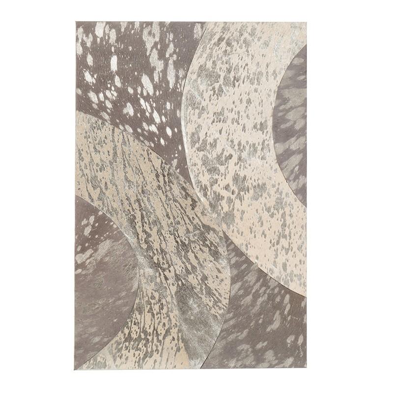 Cadre rectangulaire cuir gris/argent 40x60cm