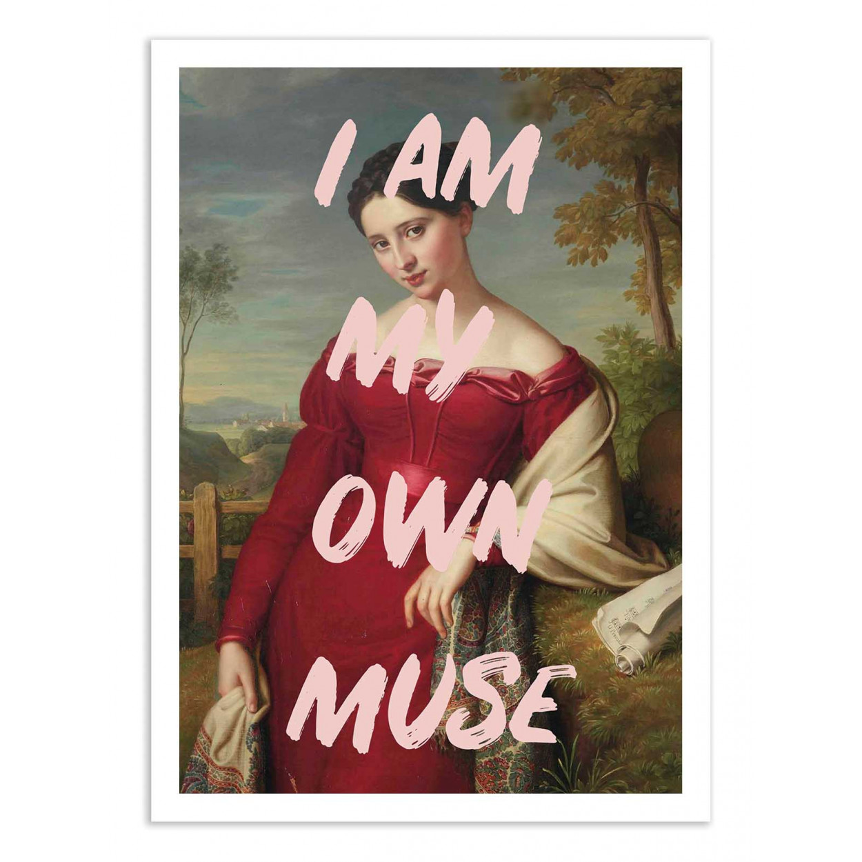 MY OWN MUSE - RUBY AND B -  Affiche d'art 50 x 70 cm
