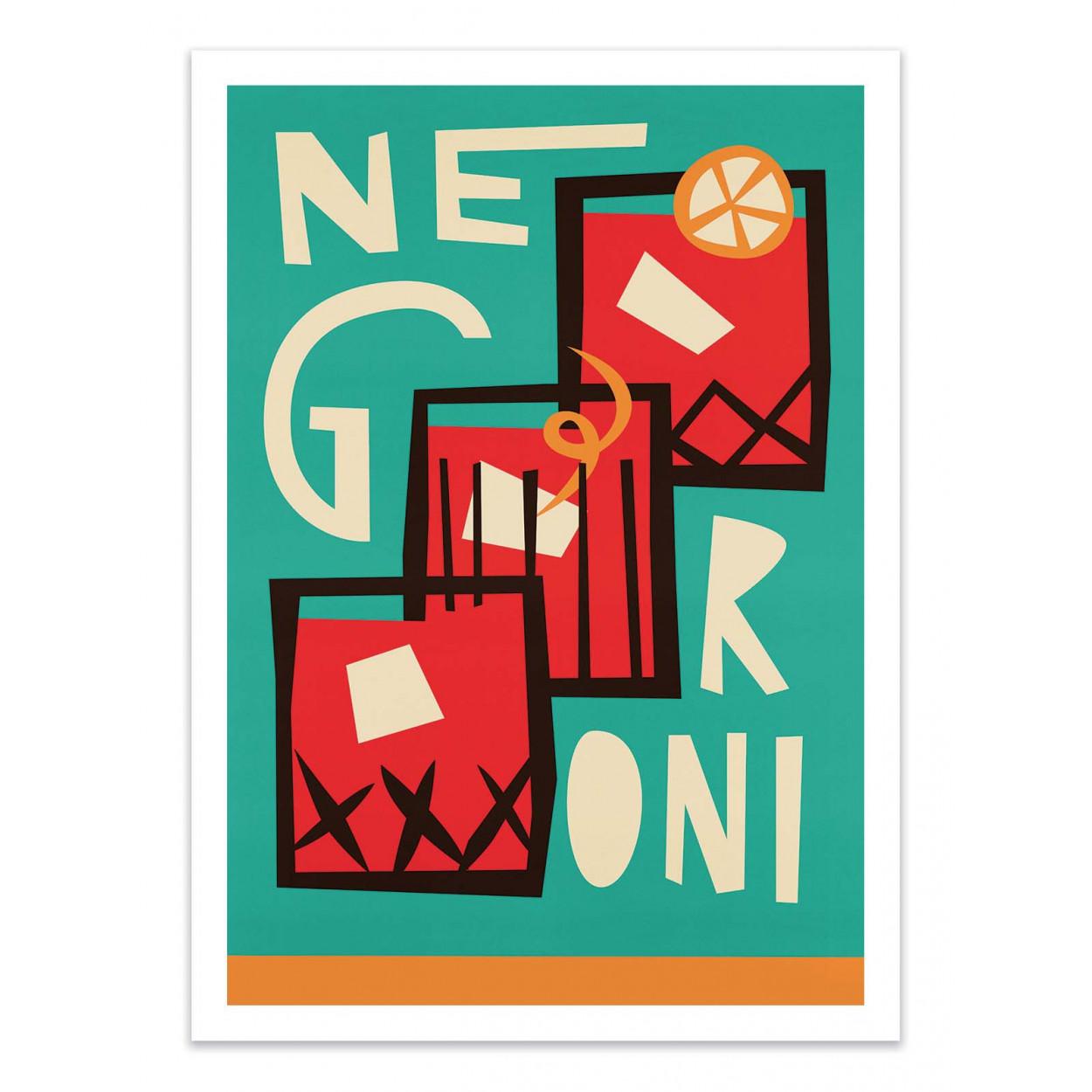 NEGRONI -  Affiche d'art 50 x 70 cm