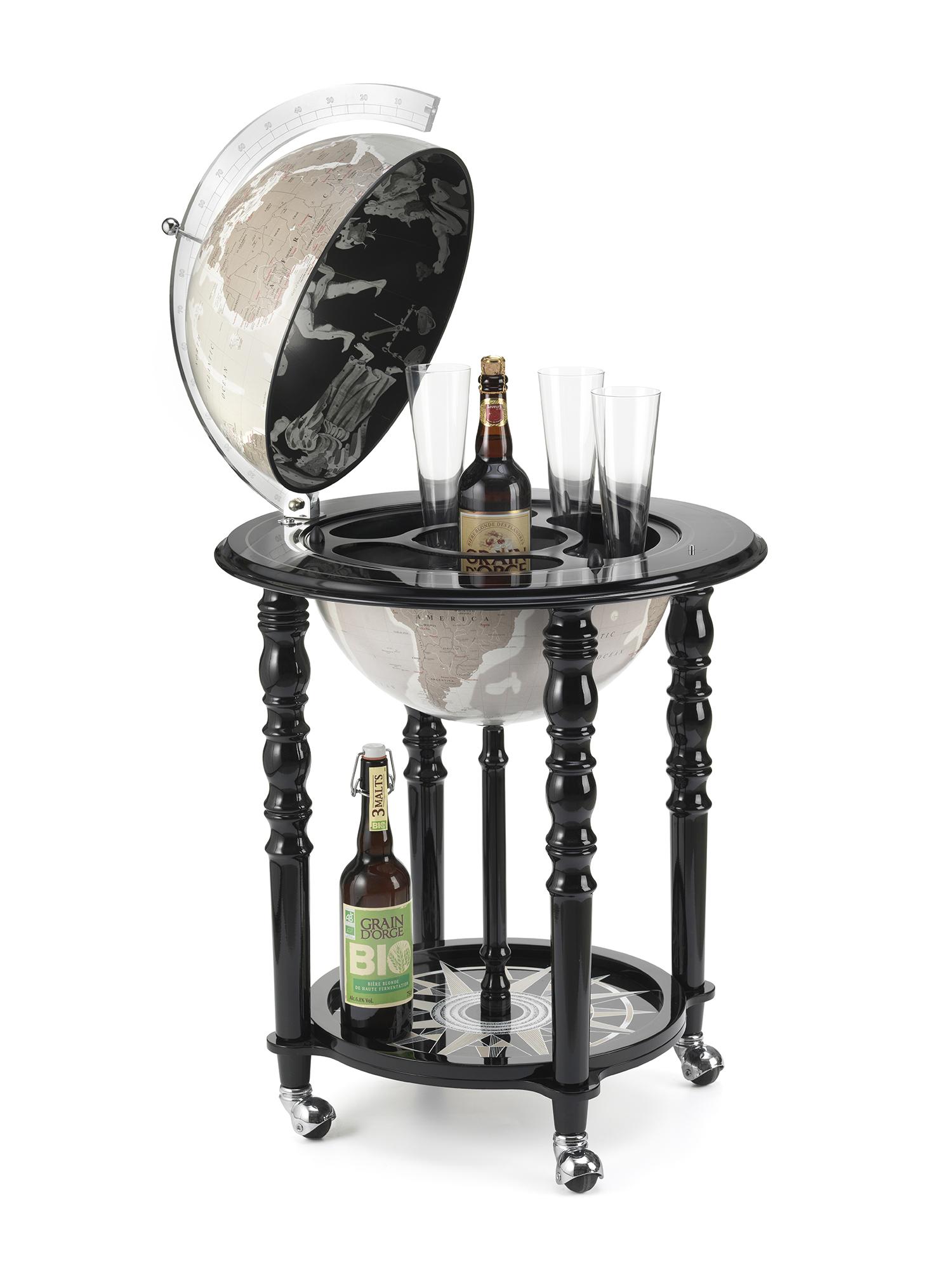 Globe bar de design laqué noir D40cm