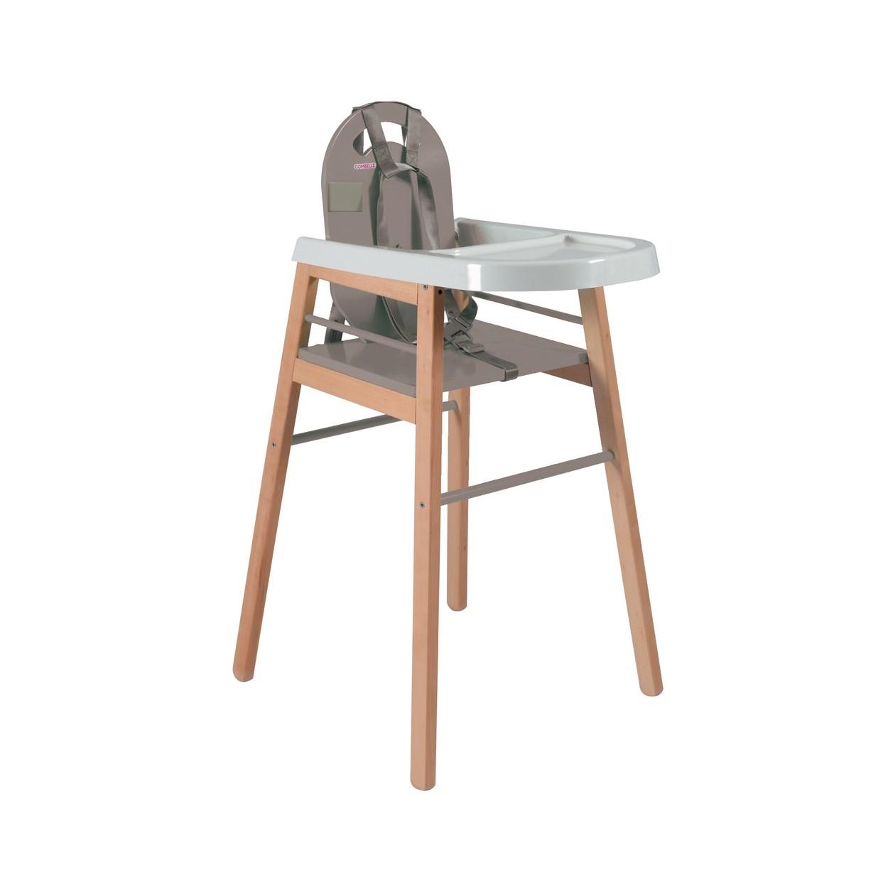 Chaise haute bébé  bicolore gris - 52x96 cm