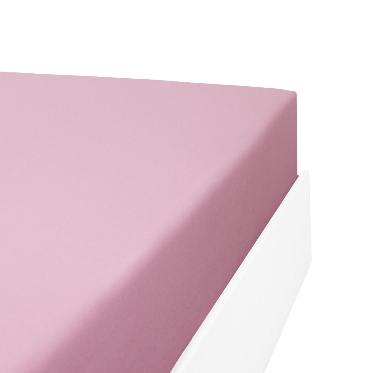 Drap housse flanelle en Molleton Rose 160x200 cm
