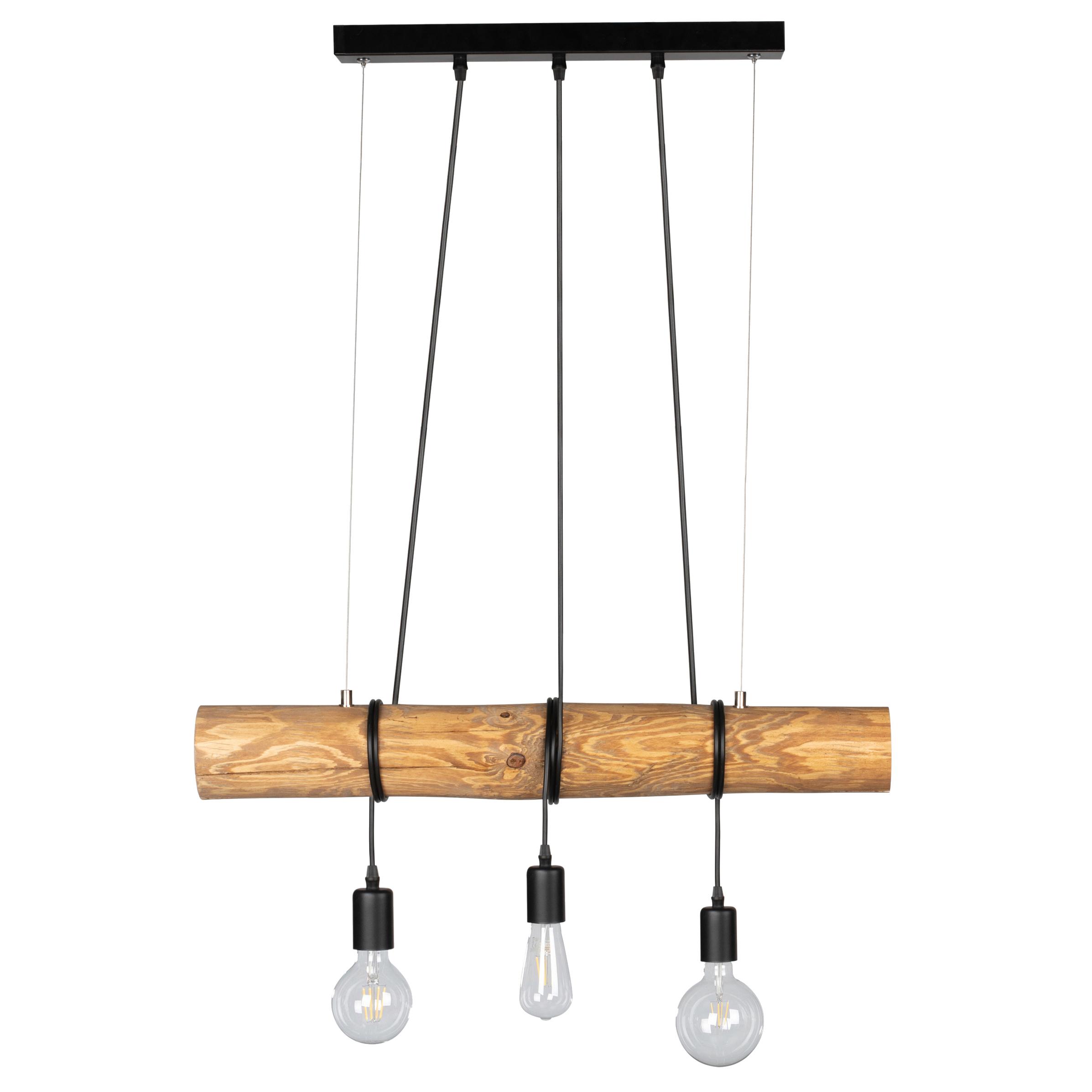 Suspension en bois 3 ampoules