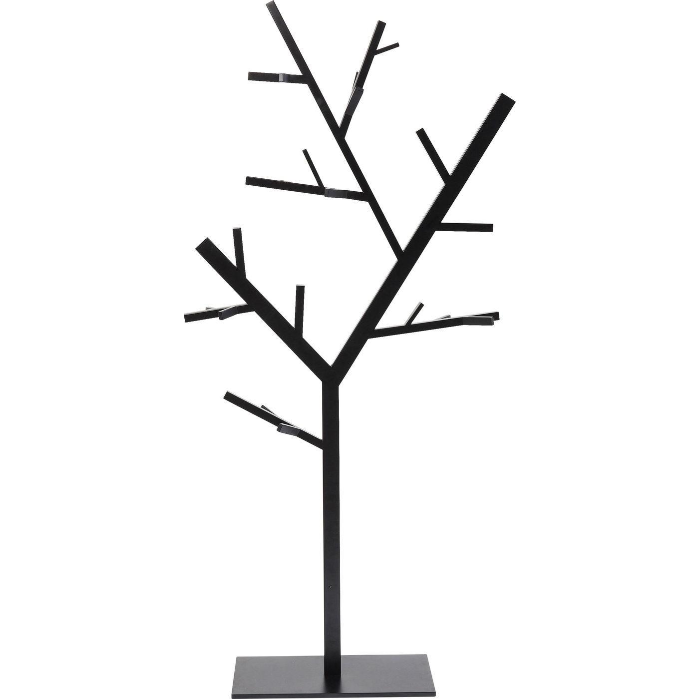 Porte-manteau arbre en acier noir