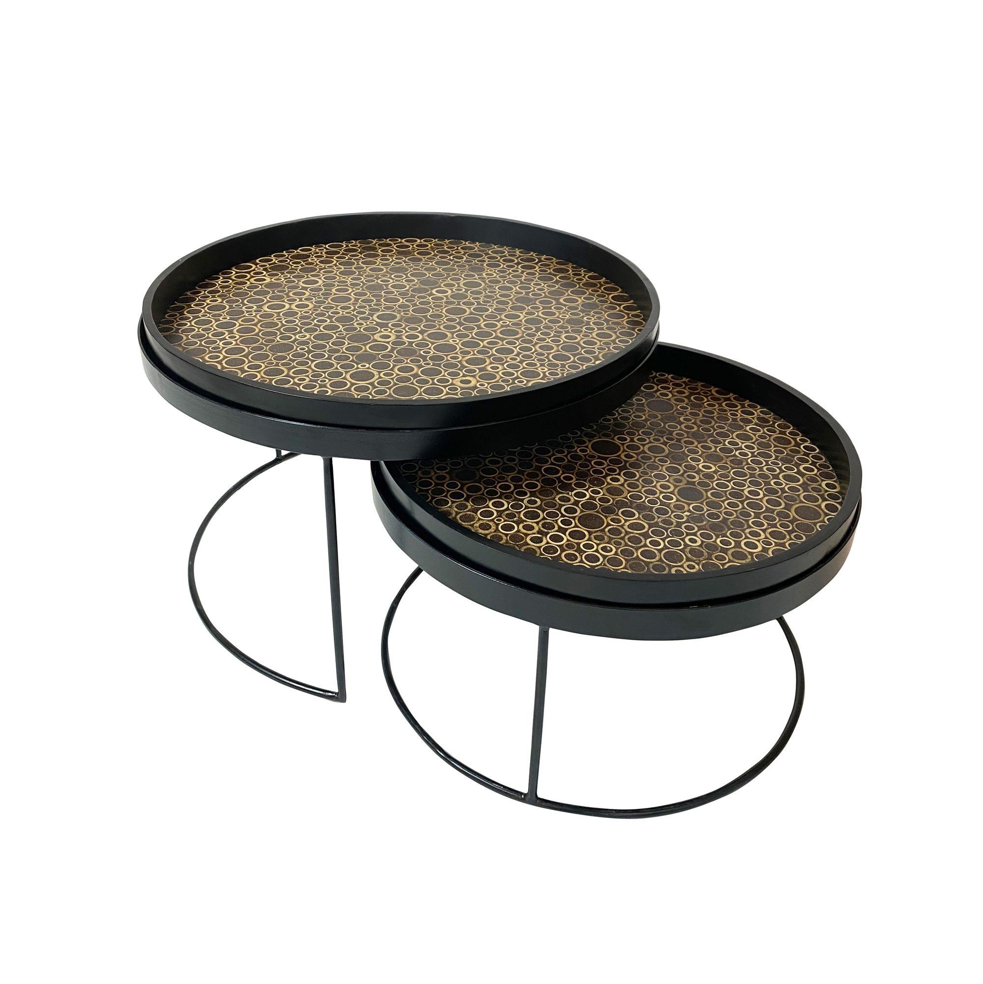 Set de 2 tables basses de 50cm et 60 cm