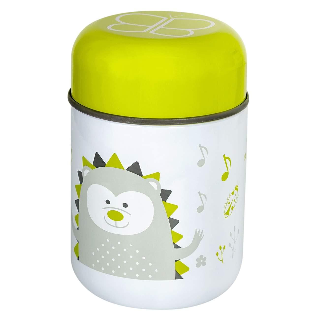 Boîte à repas isotherme avec cuillère vert bébé