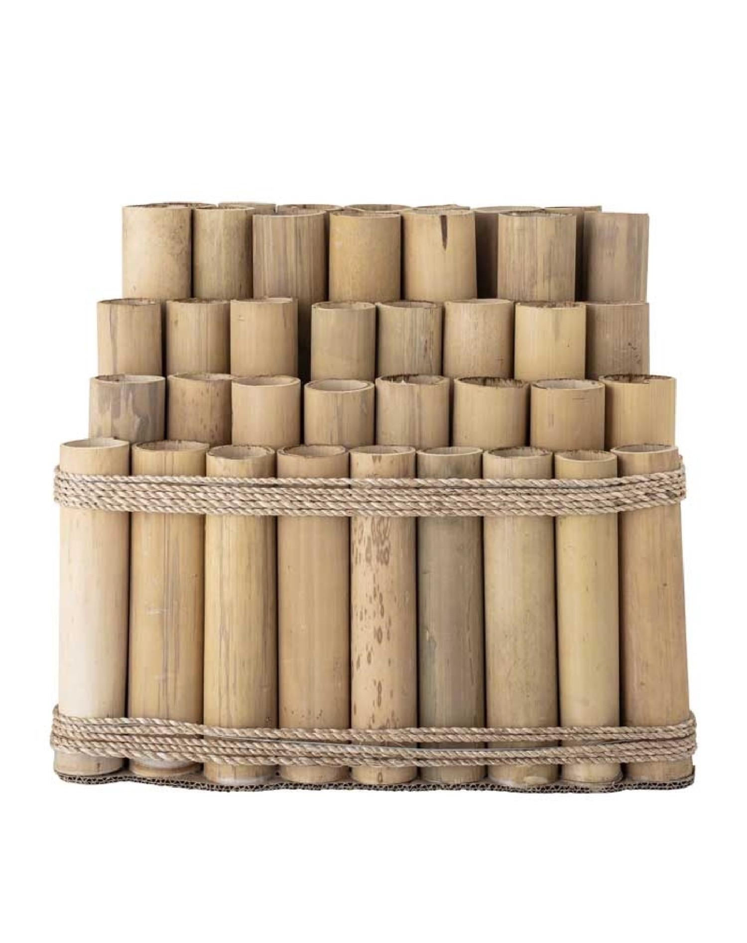Décoration Coco bambou et sisal H44cm