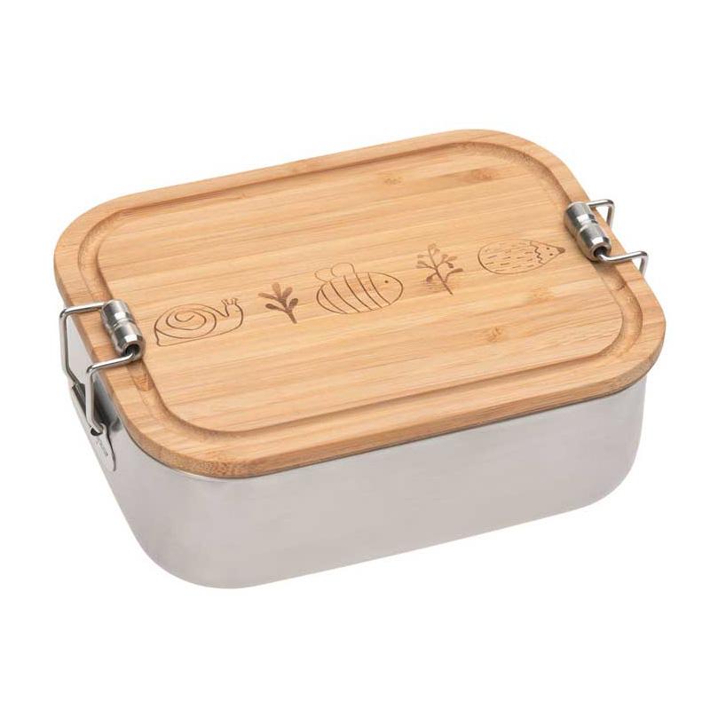 Boîte à goûter en inox et bambou Garden Explorer