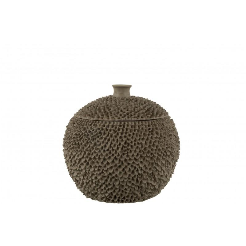 Pot résine marron clair H26cm