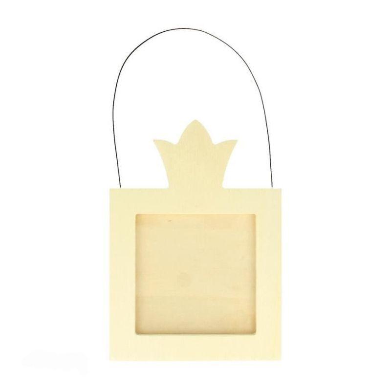 Cadre couronne à customiser 14x10cm