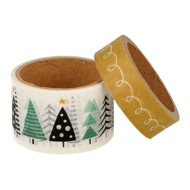 2 masking tape de Noël sapin 5mx3cm