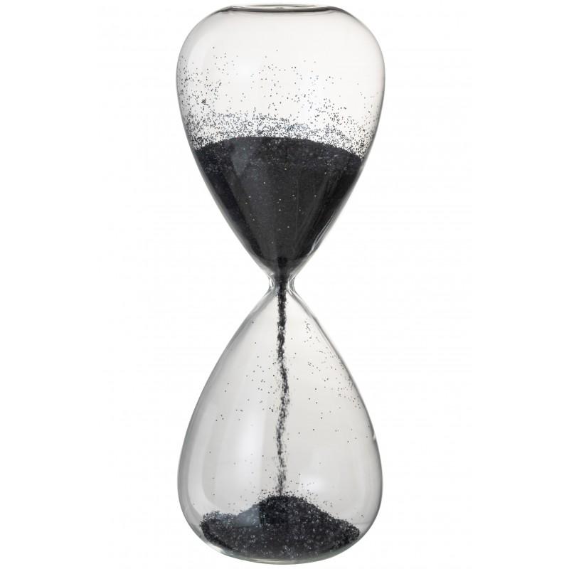 Sablier verre noir H40cm