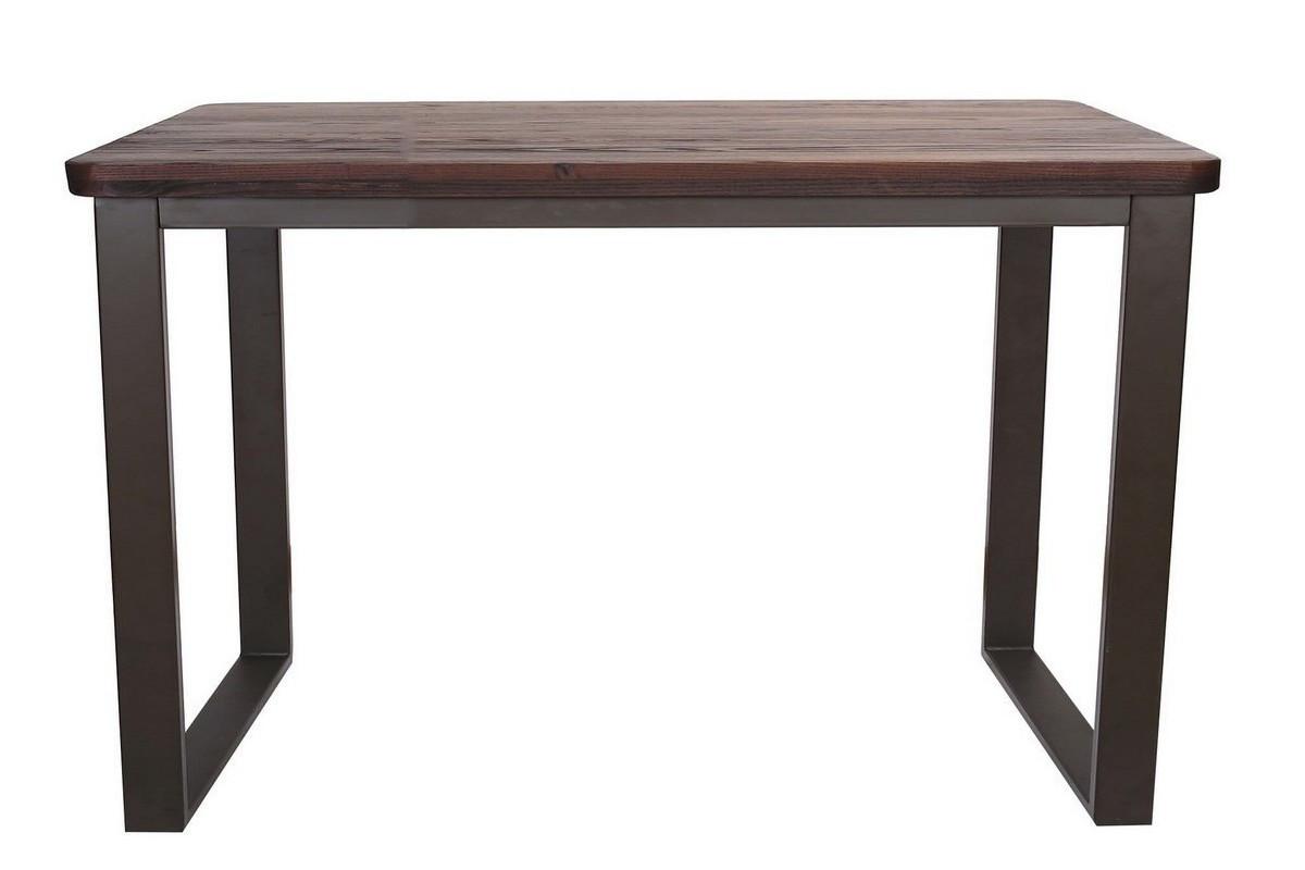 Table repas 120 cm bois massif foncé