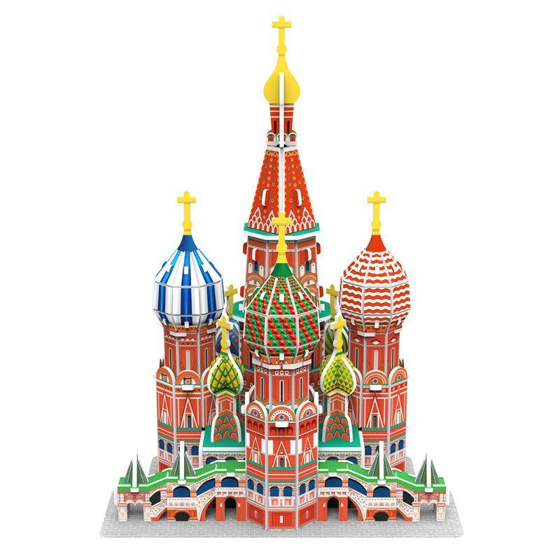 Maquette Cathédrale Saint Basile à construire soi-même
