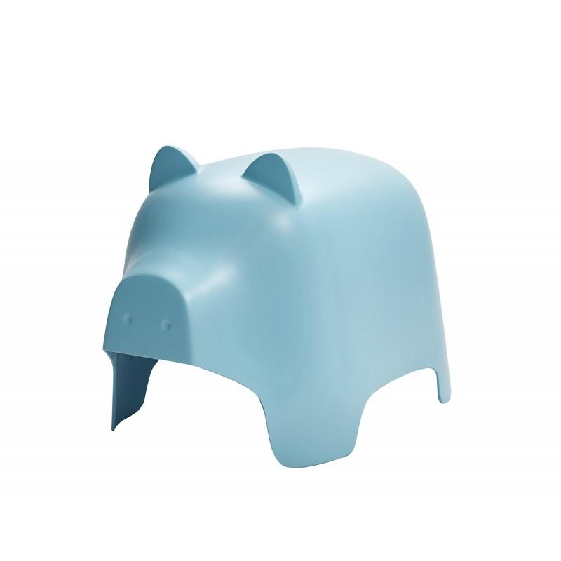 Chaise enfant en plastique bleu