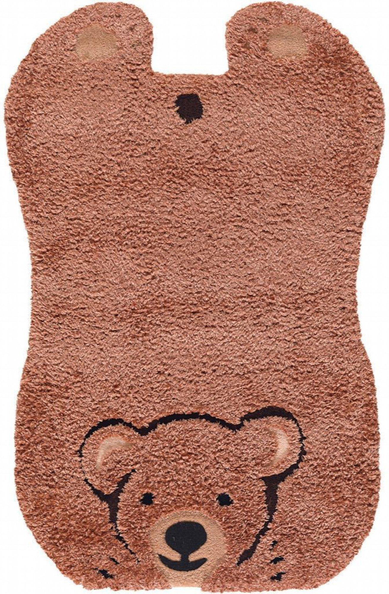Tapis enfant marron rectangle acrylique 70x110