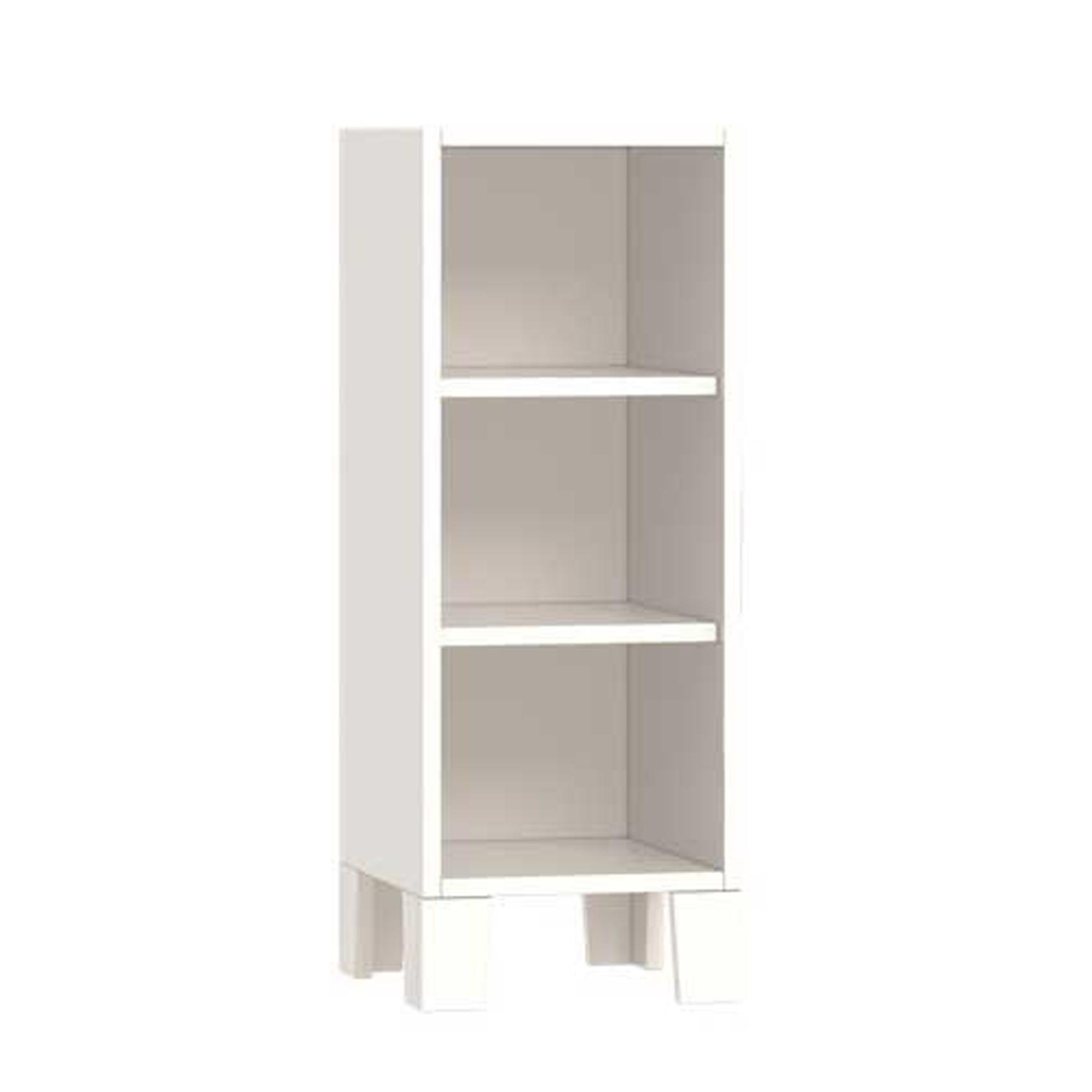 Etagère 3 niches enfant bora en bois Blanc 32x36x85