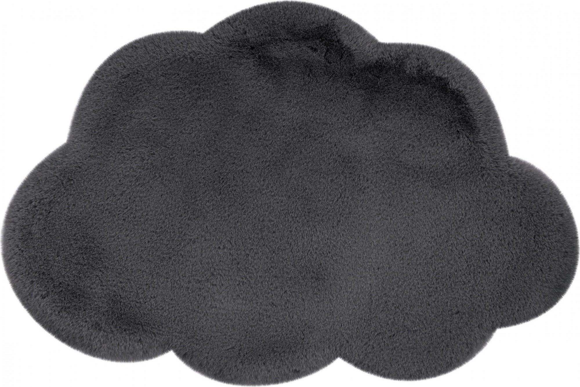 Tapis enfant gris rectangle micropolyester 60x90