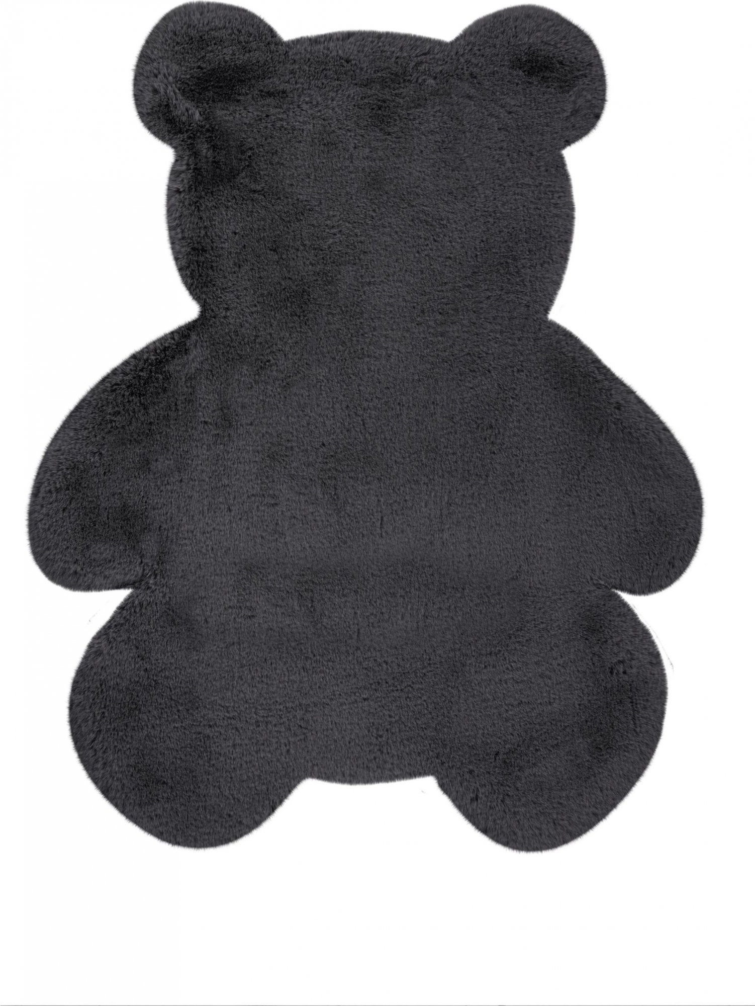 Tapis enfant gris rectangle micropolyester 73x90