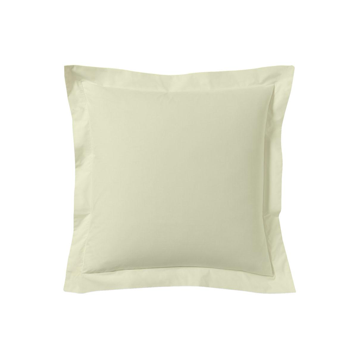 Taie d'oreiller unie en coton lin 63x63