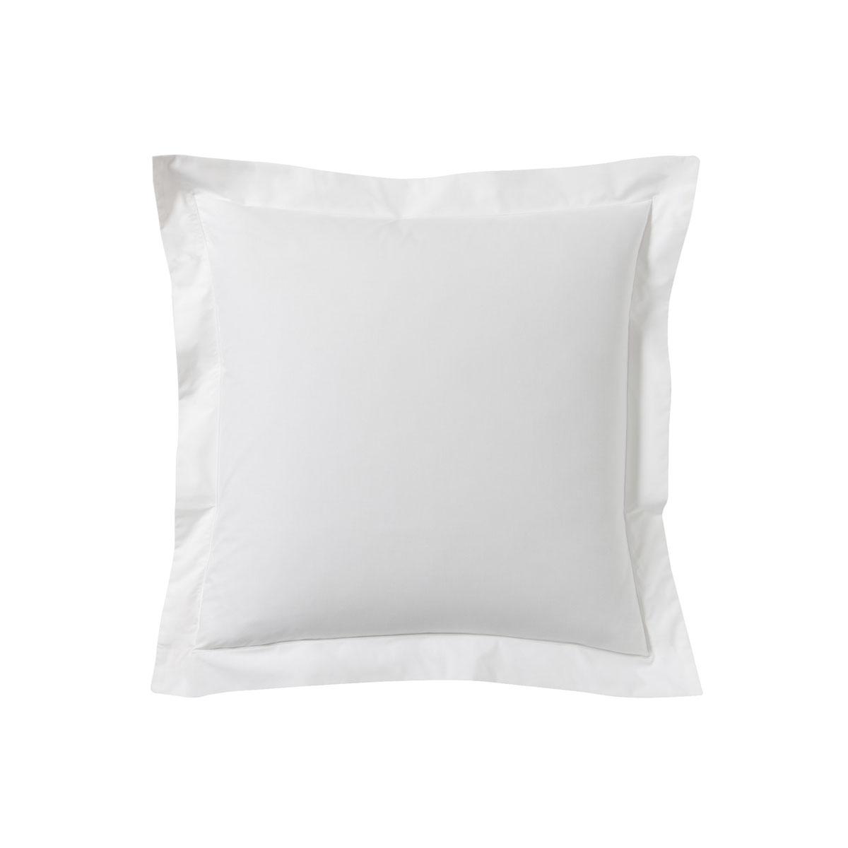 Taie d'oreiller unie en coton, Made in France blanc 50x70