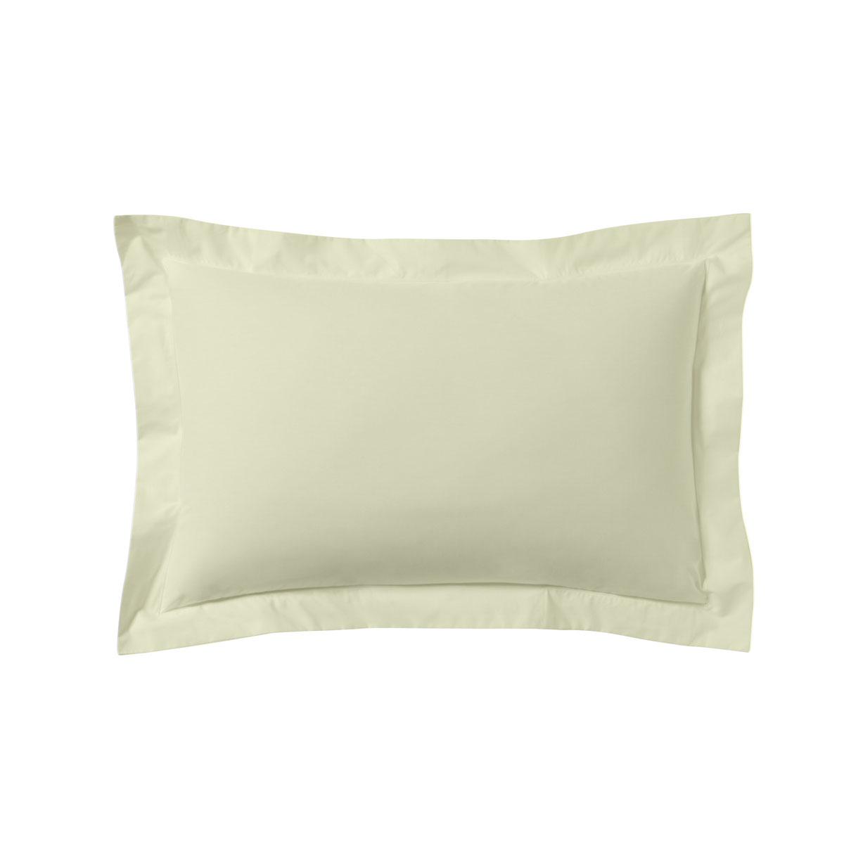 Taie d'oreiller unie en coton lin 50x70