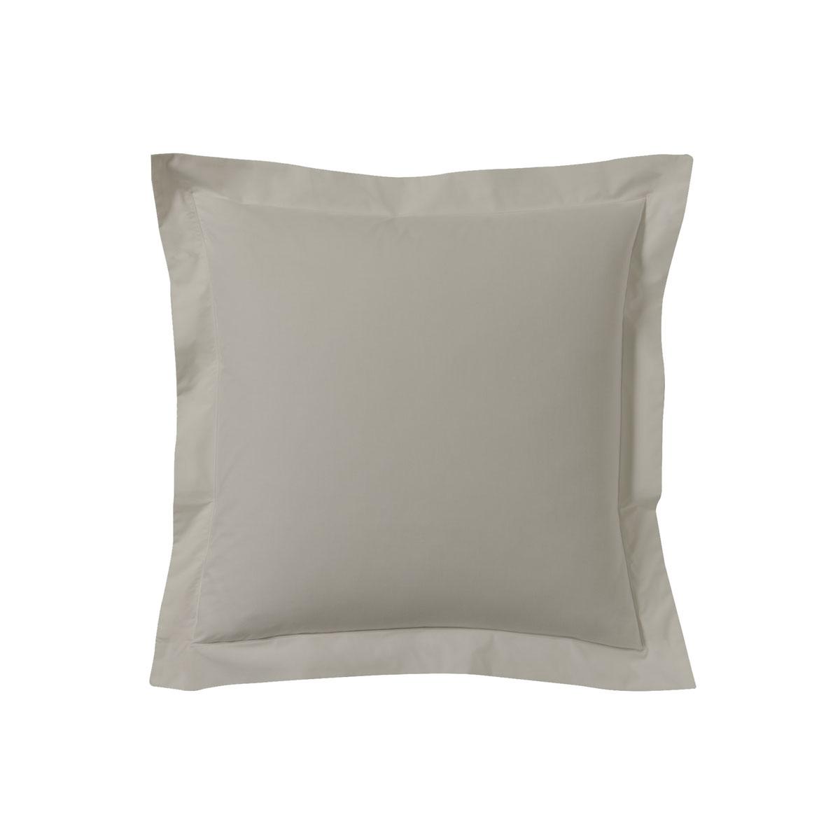 Taie d'oreiller unie en coton, gris 63x63