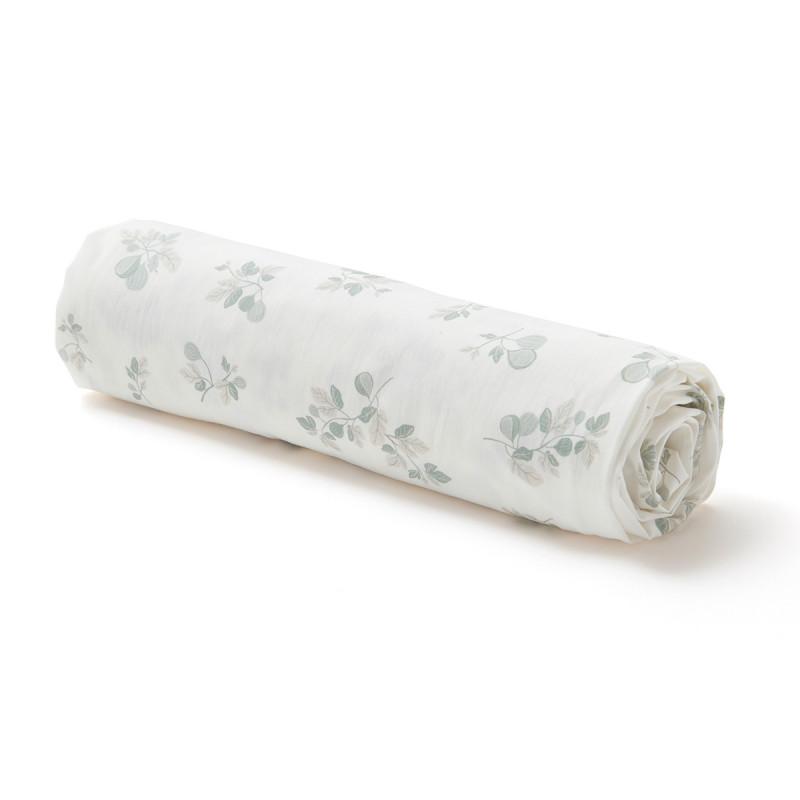 Drap housse en coton bio imprimé figuier (90 x 190 cm)