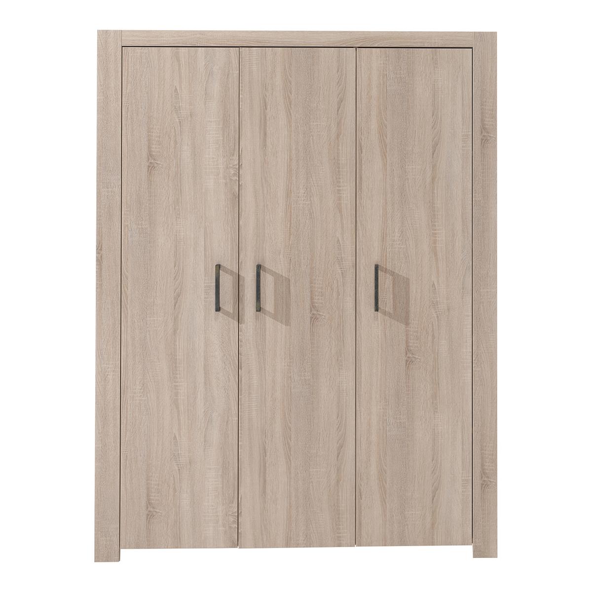 Armoire 3 portes bois