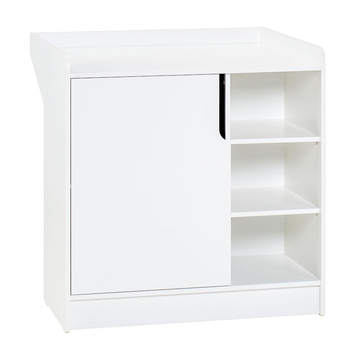 Commode 1 porte blanc