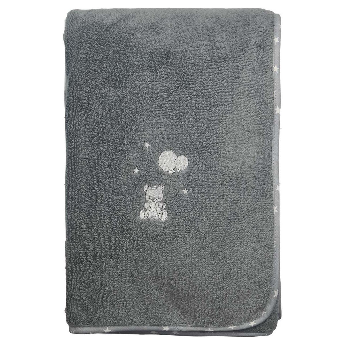 Serviette de toilette en coton peig Galet 50x90 cm