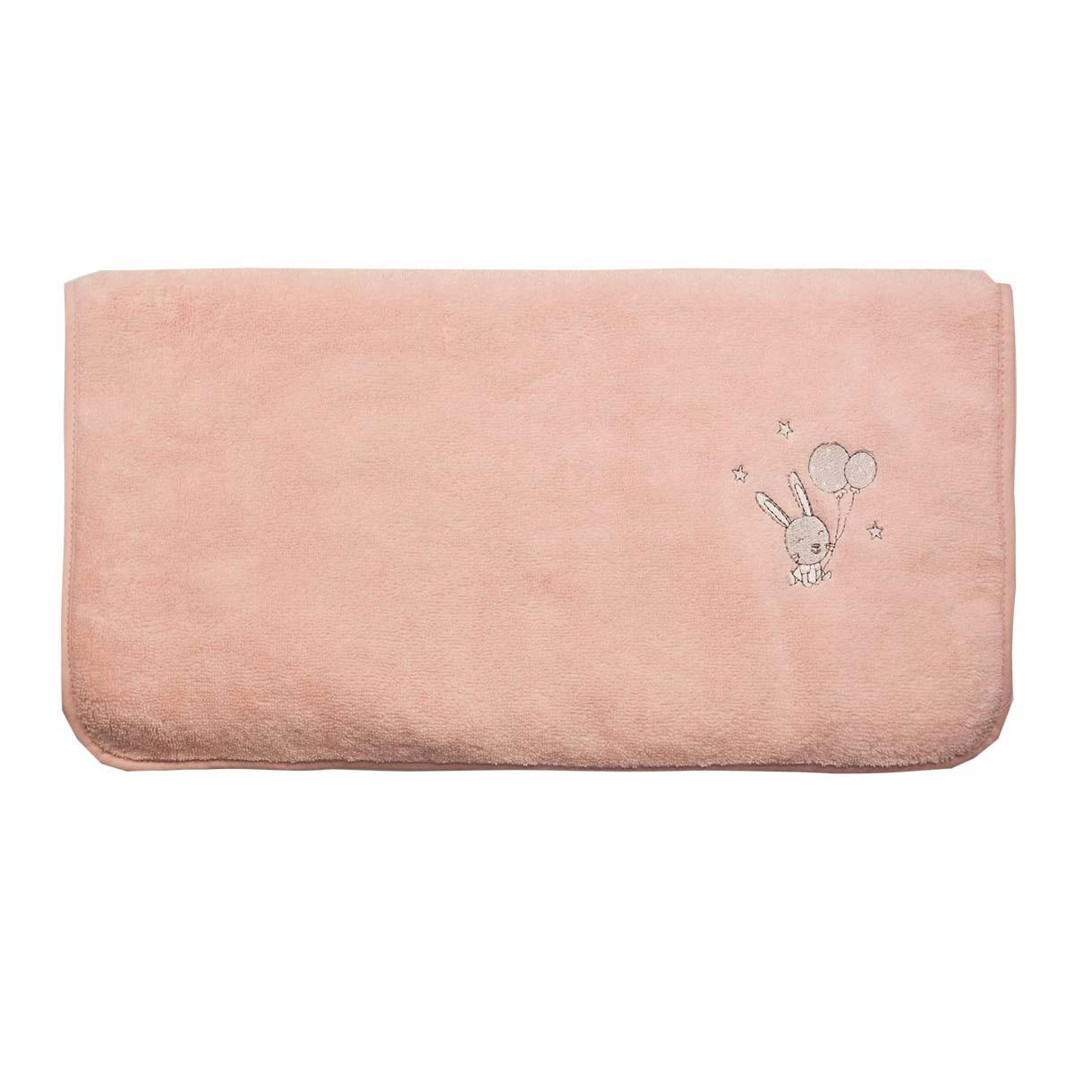 Serviette de toilette en coton peig Rose Poudre 50x90 cm