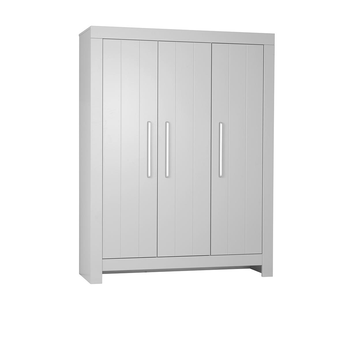 Armoire 3 portes gris