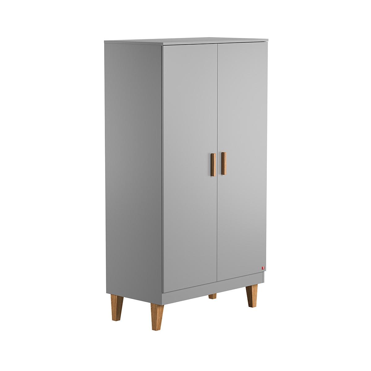Armoire 2 portes gris