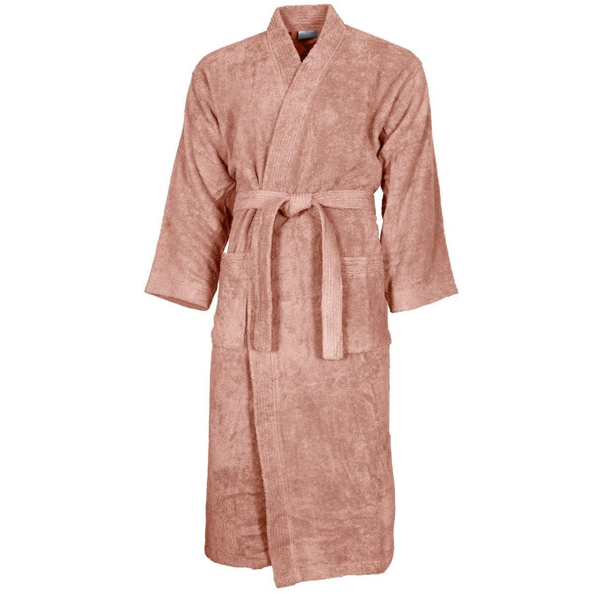 Peignoir col kimono Nude L