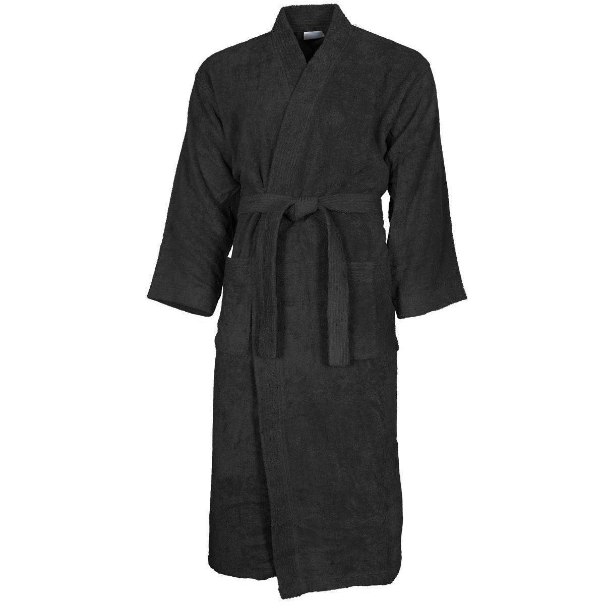 Peignoir col kimono Noir M