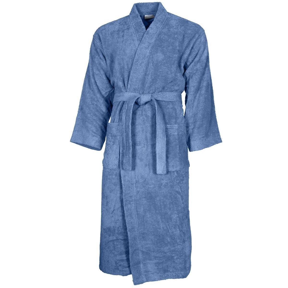 Peignoir col kimono Cobalt XL