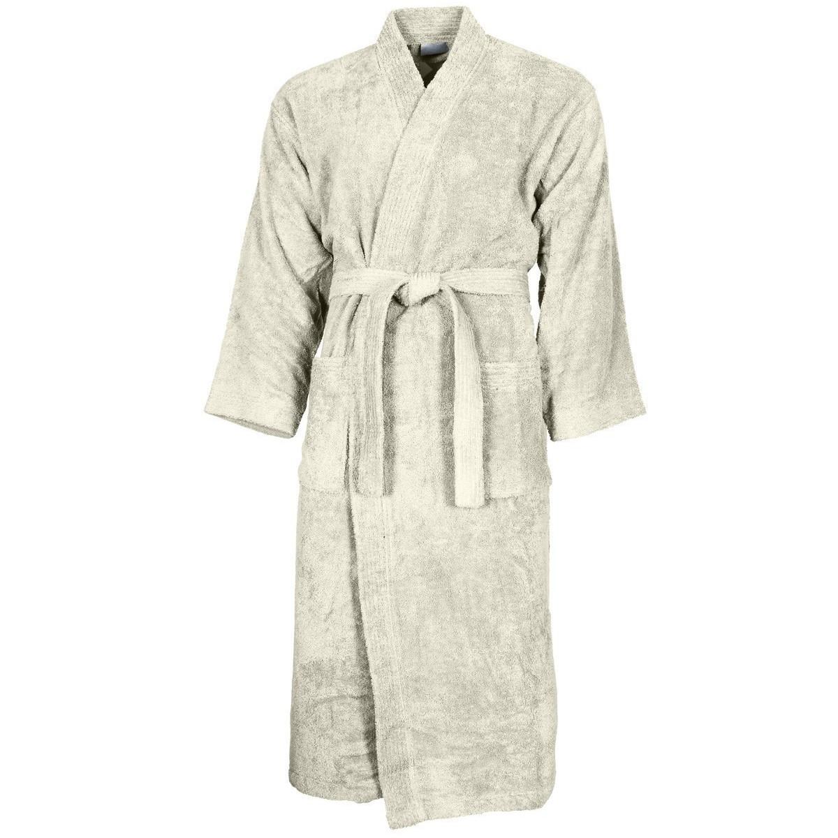 Peignoir col kimono Ecru L