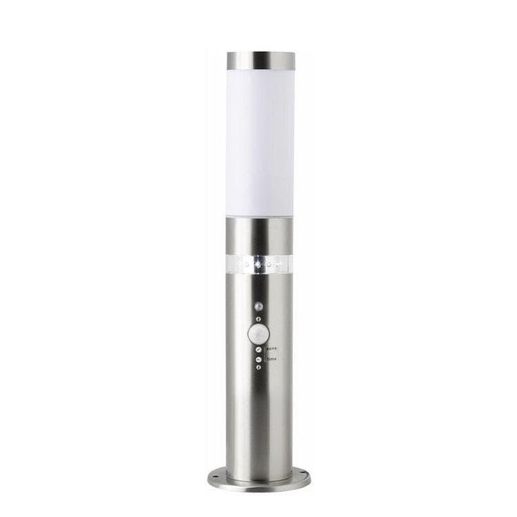 Borne LED d'extérieur avec détecteur inox H50cm