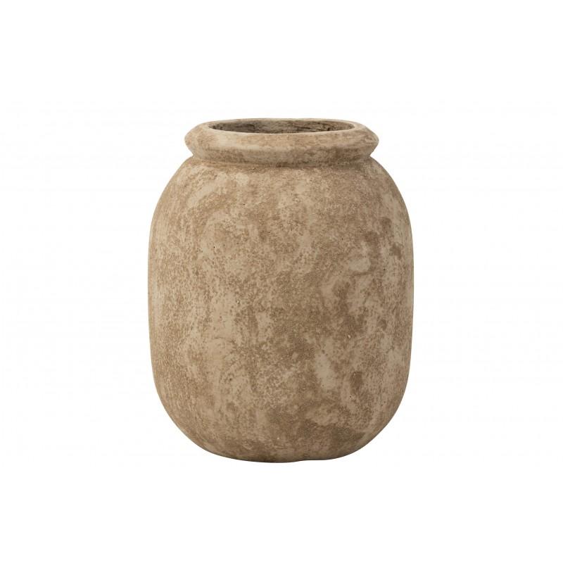 Cache-pot ciment beige H39,5cm