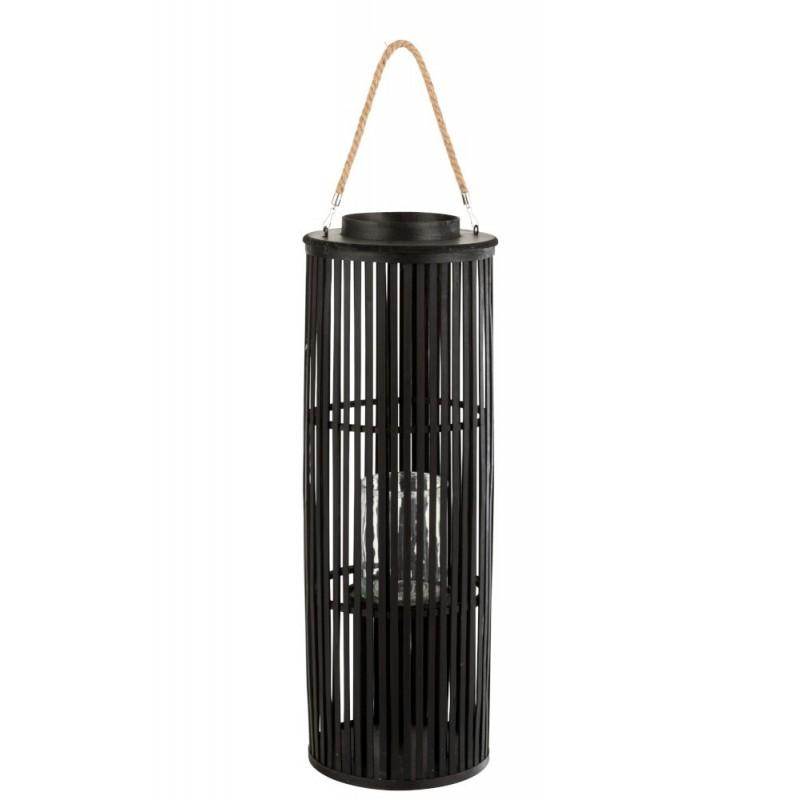 Lanterne bambou noir H80cm